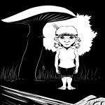Waldgnom-Frau im Unterholz