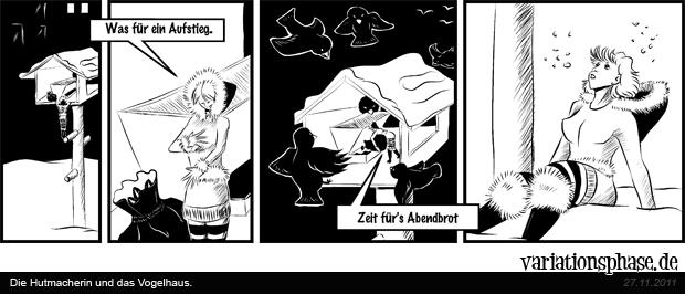 Comic Strip: Die Hutmacherin und das Vogelhaus