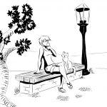 Girl and the Cat: Icecream
