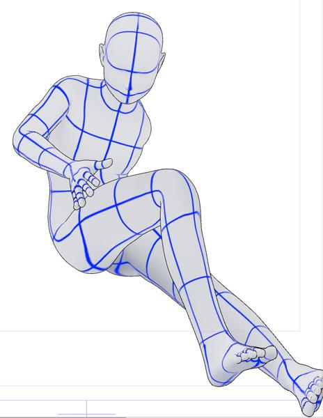 3D Marquette mit den Proportionen eines Kindes