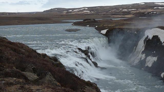 Gulfoss, Island, Einzelaufnahme