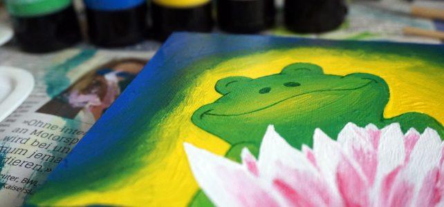 Kinderillustration auf Leinwand
