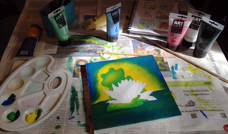 Acryl-Malerei auf Leinwand - WIP