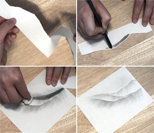 Bleistift-Effekte: Schablonen