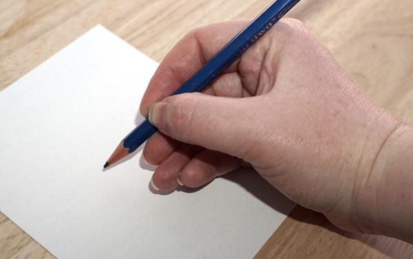 Stift halten: Schreibhaltung