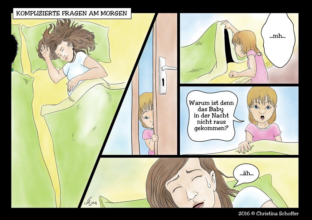 Comic Strip zur Schwangerschaft