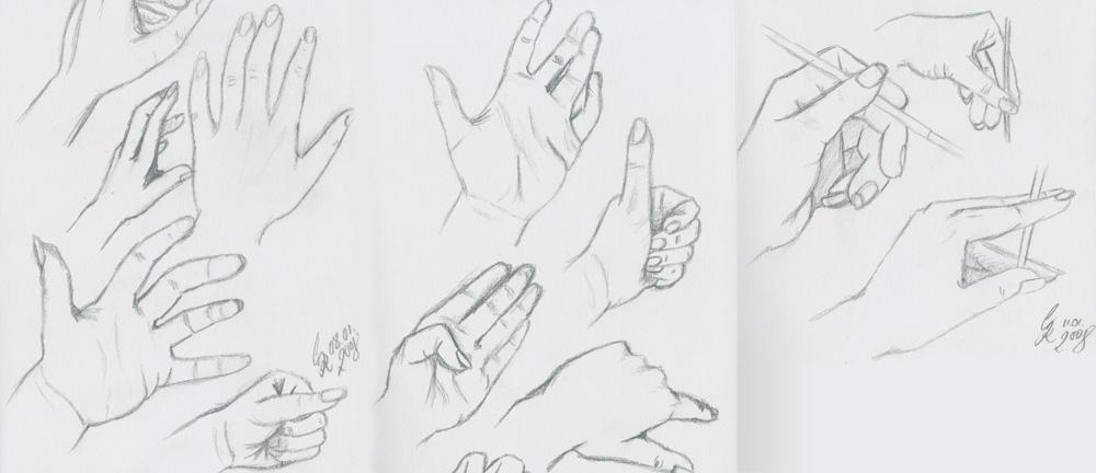 Hände zeichnen - Skizzieren