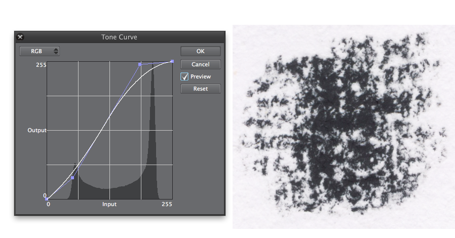 Einstellungen Tone Curve in Clip Studio Paint