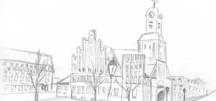 Bleistiftzeichnungen meiner Heimatstadt Wittstock