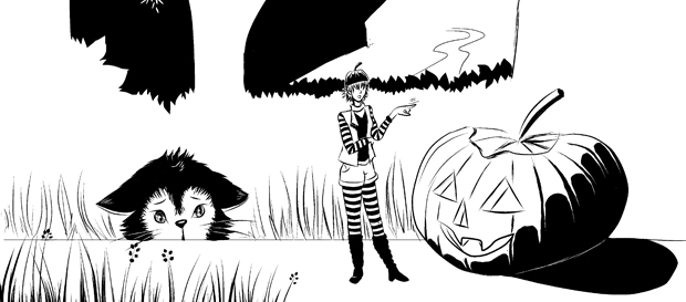 Die Hutmacherin und der Halloween Kürbis