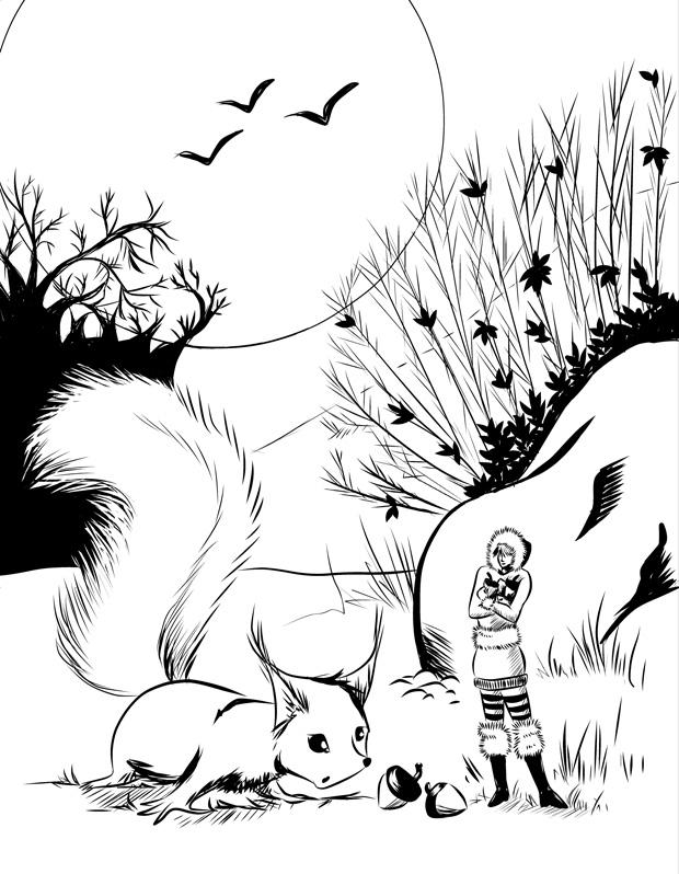 Die Hutmacherin und das Eichhörnchen