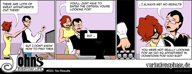 Comic Strip: No Results