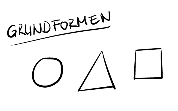 Grundformen beim Zeichnen