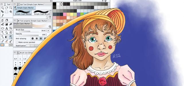 Copic Marker Effekt mit Manga Studio