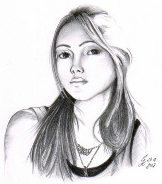 Bleistiftportrait Ishrat