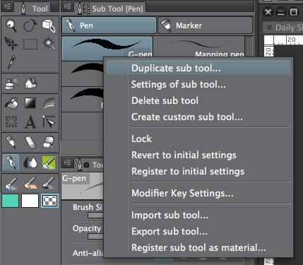 Clip Studio Paint - Duplicate Sub Tool