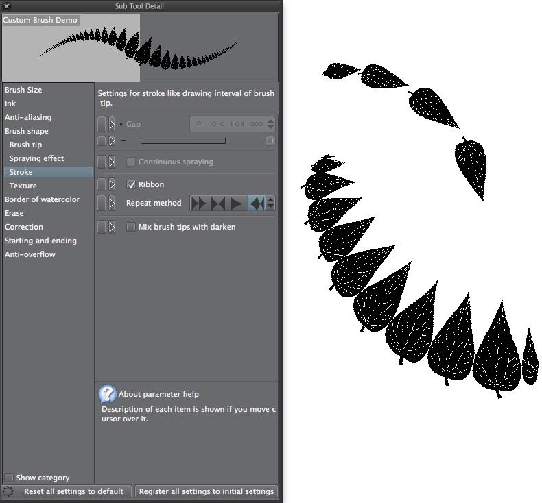 Clip Studio Paint: Beispiel für Ribbon-Effekt