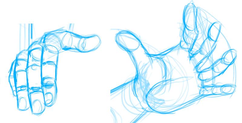 Hände zeichnen - Selbst konstruieren