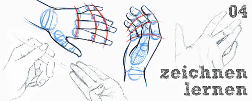 Zeichnen lernen: Hände zeichnen