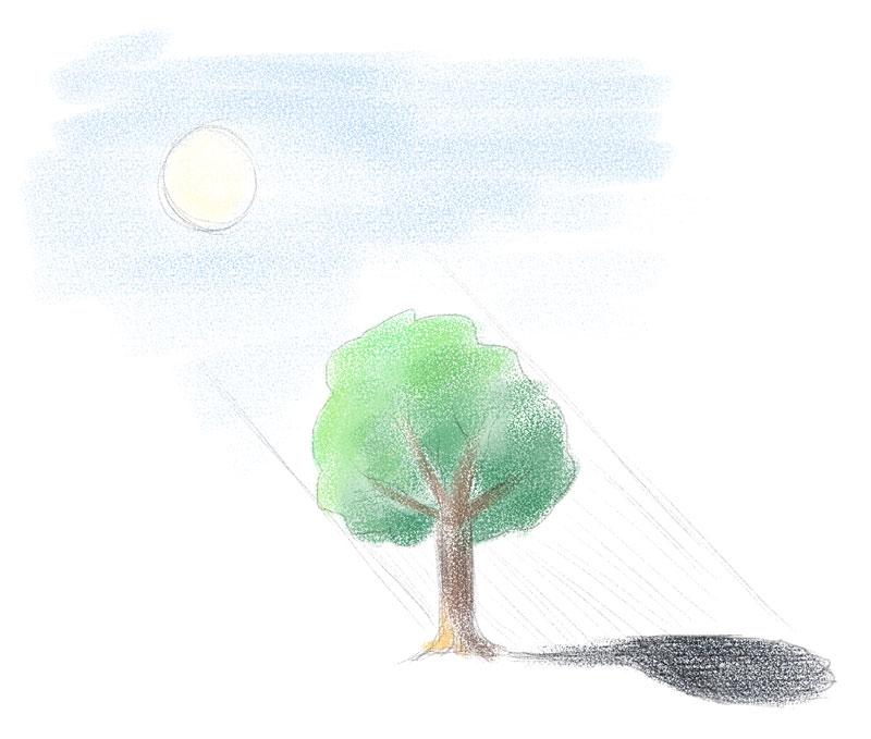 Zeichnen lernen - Richtungslinien für Licht und Schatten einzeichnen