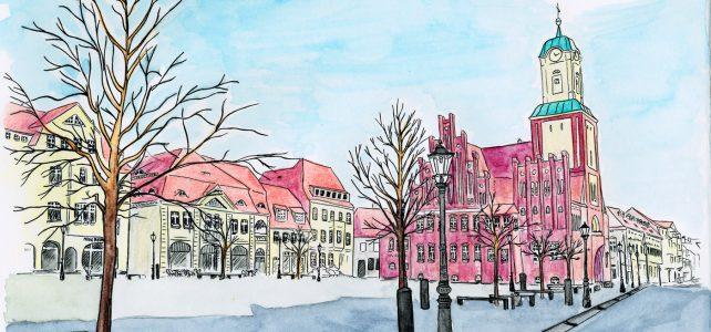 Wittstocker Marktplatz und Rathaus